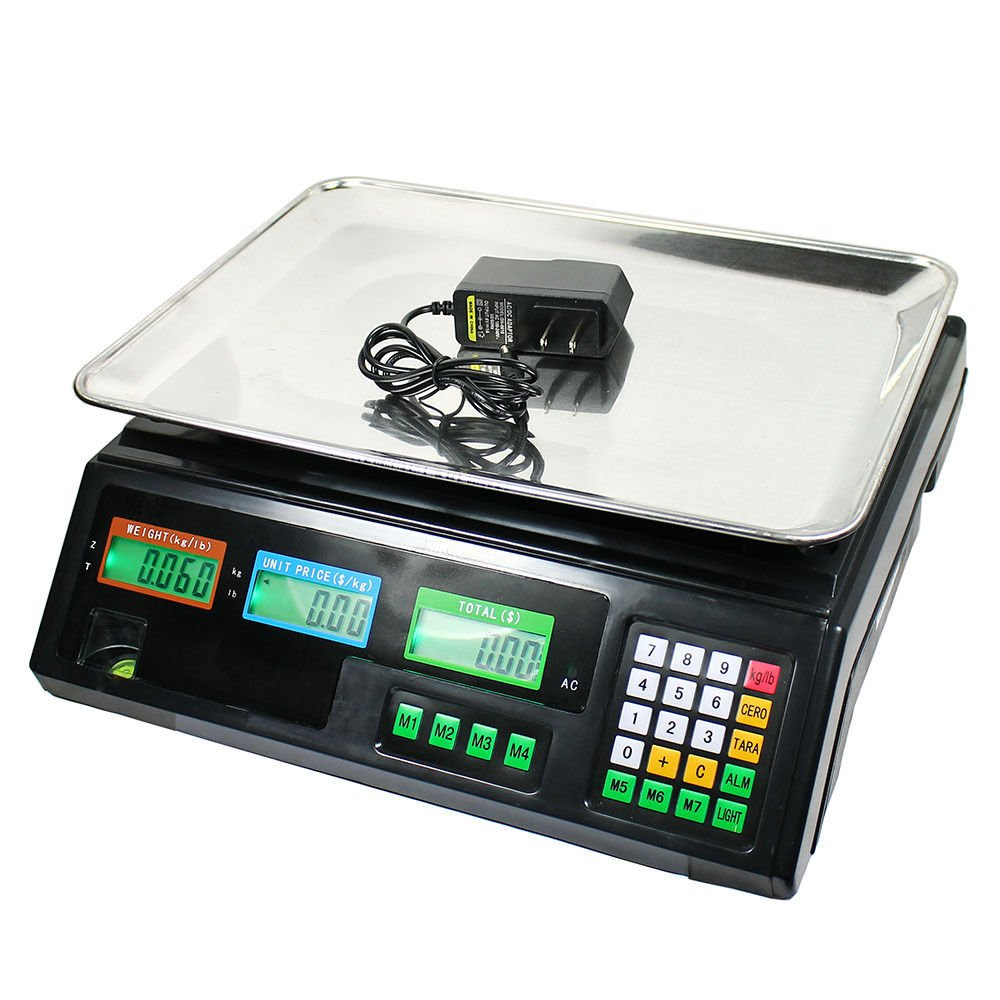 80 LB Digital Weight Scale Price Computing Deli Food Produce Electronic Counter by Unknown