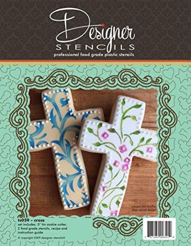 Designer Cookie Cutters - Cross Cookie Cutter & Stencil Set by Designer Stencils