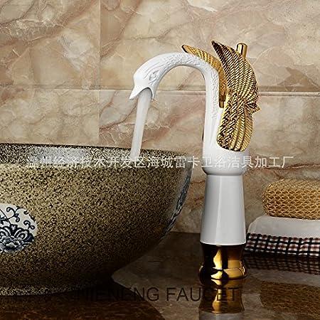Retro Deluxe Fauceting swan faucets bath sink mixer water bathroom ...