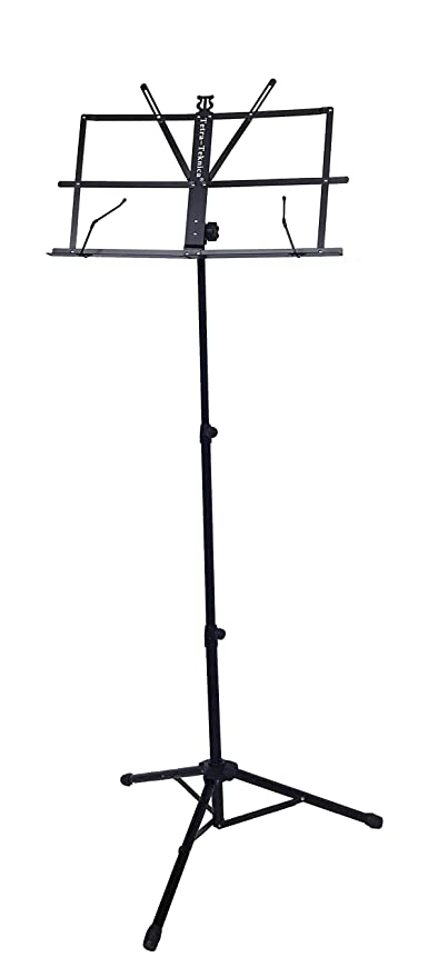 Tetra-Teknica EMS-04 Portable Folding Sheet Music Stand with Carry Bag, Color Black