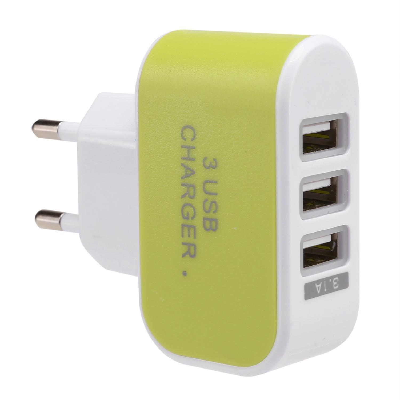 Jintes Cargador de CA USB de 3 Puertos Adaptador de Corriente para M/óviles iPad Bases de carga etc iPhones and iPod