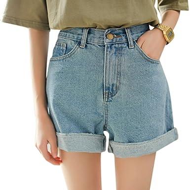 Kurze high waist jeans