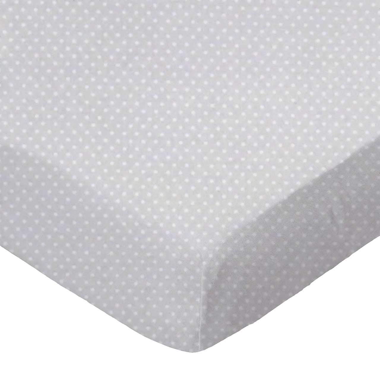 SheetWorld Fitted 100% Cotton Percale Cradle Sheet 18 x 36, Pindots Grey Woven, Made in USA by SHEETWORLD.COM