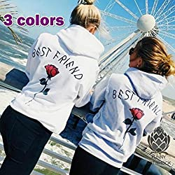 wangxiyan 2 Color Fashion Sweatshirt Friends Shirt Hoodie Top Best Friend Shirts Besties Shirts BFF Top Sisters Gifts for Friends Teens for Her