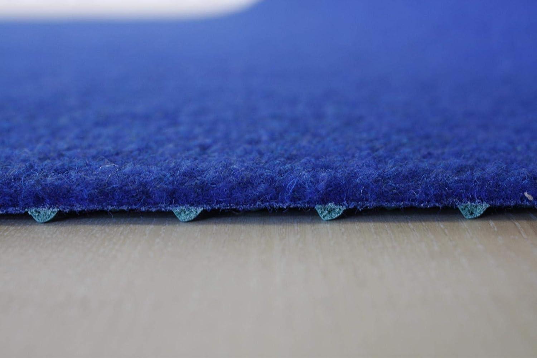 200x400 cm Rasenteppich Kunstrasen Premium blau Velours Weich Meterware verschiedene Gr/ö/ßen wasserdurchl/ässig mit Drainage-Noppen