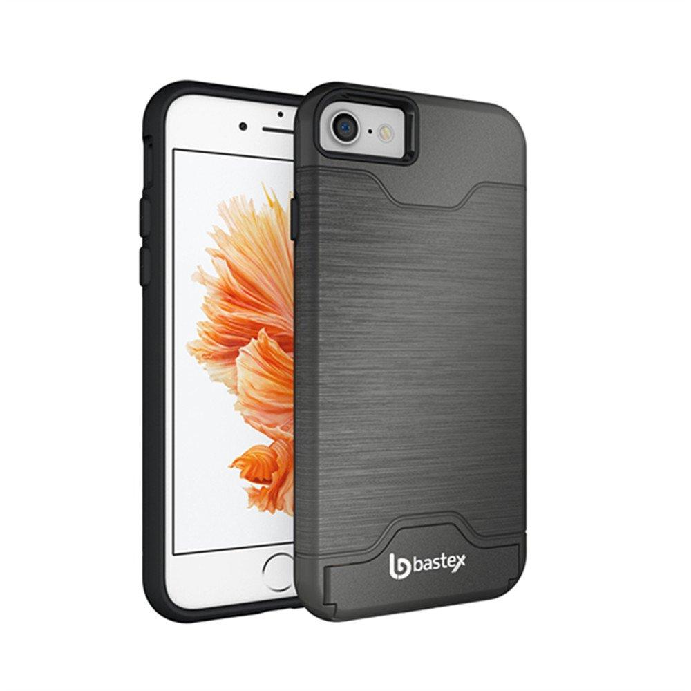 Iphone 7 Case Bastex Hybrid Slim Fit Black Rubber Silicone Cover Hard Plastic.. 14