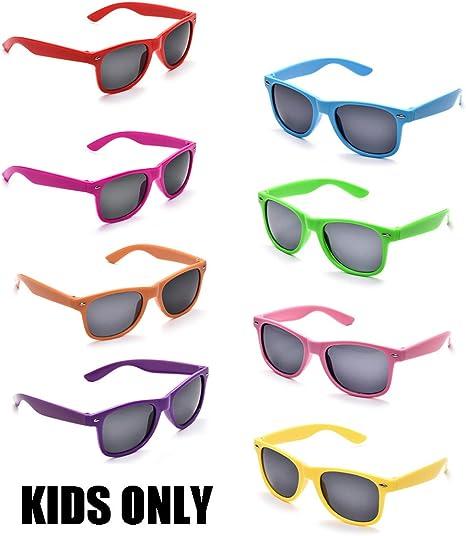 Amazon.com: Neon Colors Party Favor Supplies - Gafas de sol ...