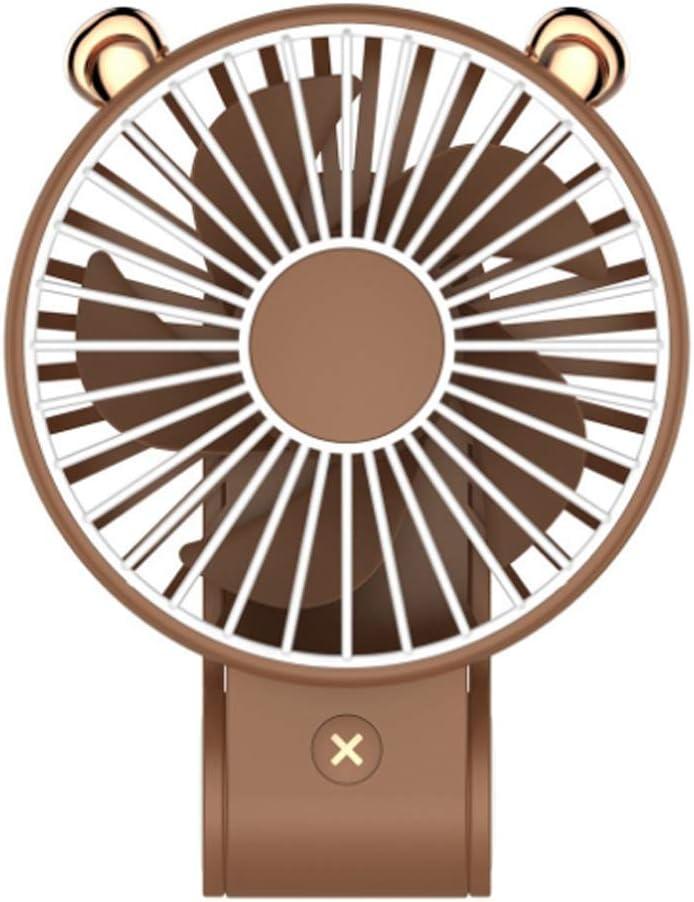 Brown SeeYing Handheld Fan Personal Small Desk Fan Table Fan with USB Rechargeable Battery Mini Portable Fan for Office