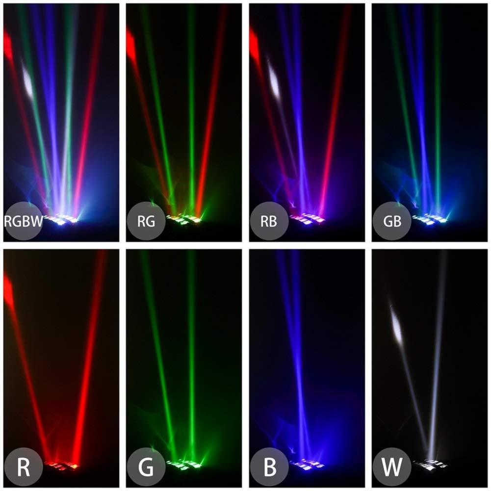 Yimosi 60W,RGBW 4 en 1 8 LEDs DMX512 Luz de discoteca Iluminaci/ón de escenario L/ámpara de escena Comando de voz para DJ Partido Fiesta Bar Club Escenario Teatro