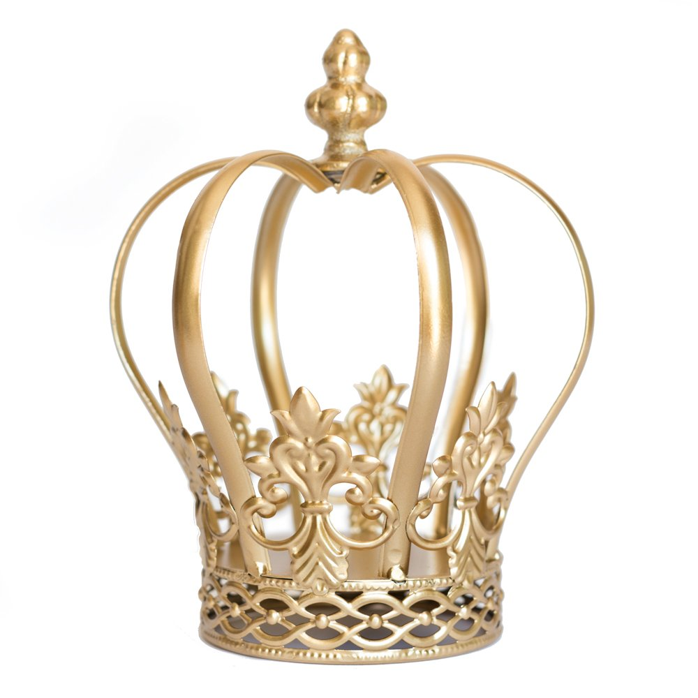 Gold Crown Cake Topper, Crown Centerpiece, Gold Wedding Cake Topper, Princess Cake, Harper The Queen of Crowns