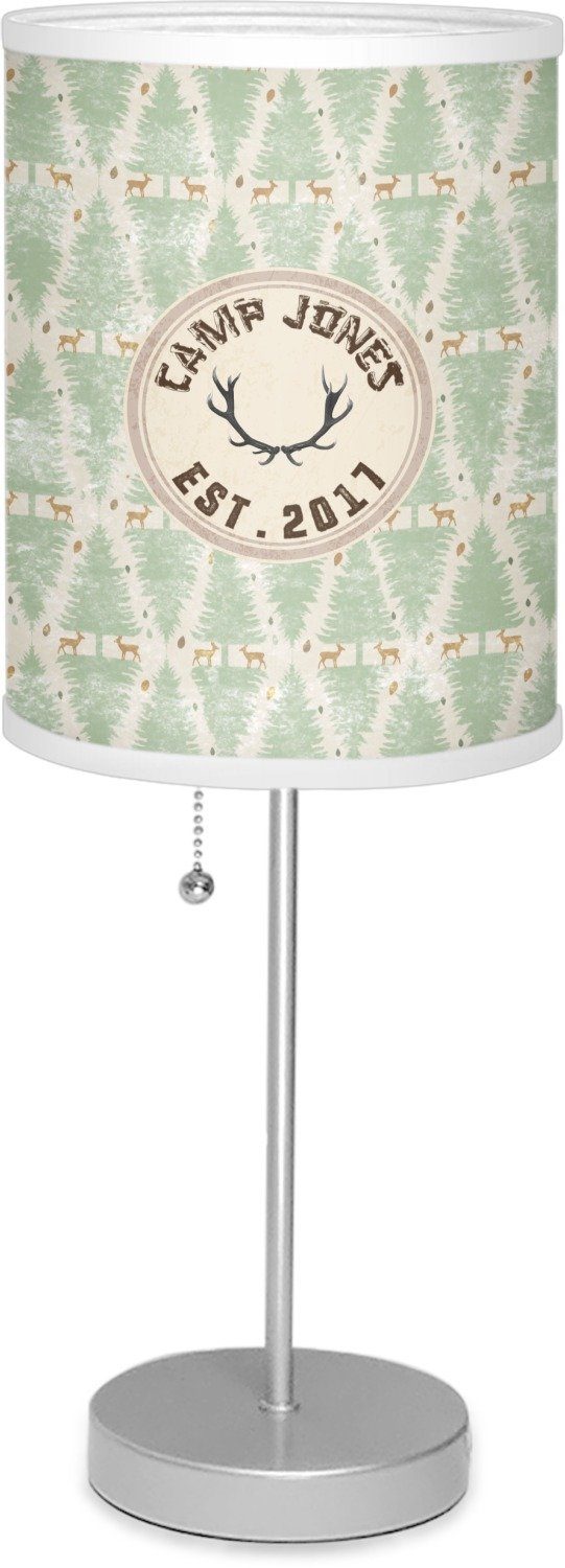 RNK Shops Deer 7'' Drum Lamp with Shade Polyester (Personalized)