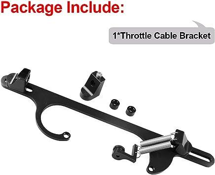Throttle Cable Bracket,4150 4160 Series Adjustable Throttle Brackets,Aluminum Alloy,Black