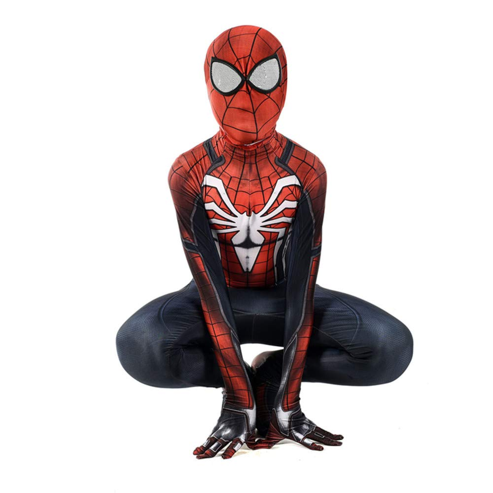 Man X-grand PIAOL Collants Siamois De La Guerre Civile PS4 Spider-Man 3D Impression Numérique Cosplay VêteHommests d'halFaibleeen,Man-S