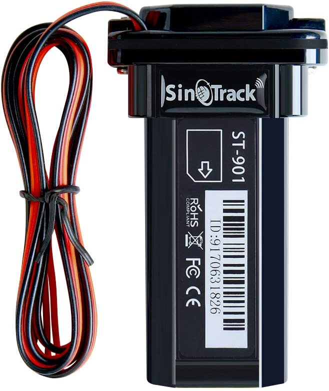 SINOTRACK Vehicle Car GPS Tracker, Anti Lost Alarm Locator Mini Portable Real-Time Location Device, Waterproof Car Motorcycle GPS Tracker Device for Truck Taxi, Support iOS Web Android Platform