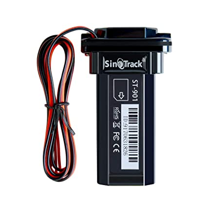 SinoTrack Vehicle Car GPS Tracker, Anti Lost Alarm Locator Mini Portable Real-Time Location Device, Waterproof Car Motorcycle GPS Tracker Device for ...