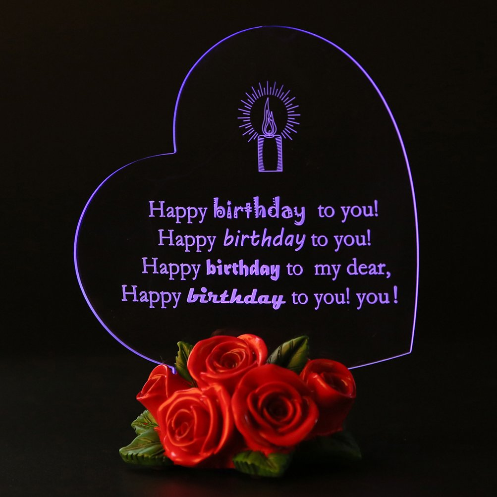 Amazon Giftgarden Birthday Gifts Cake Toppers Led Light For