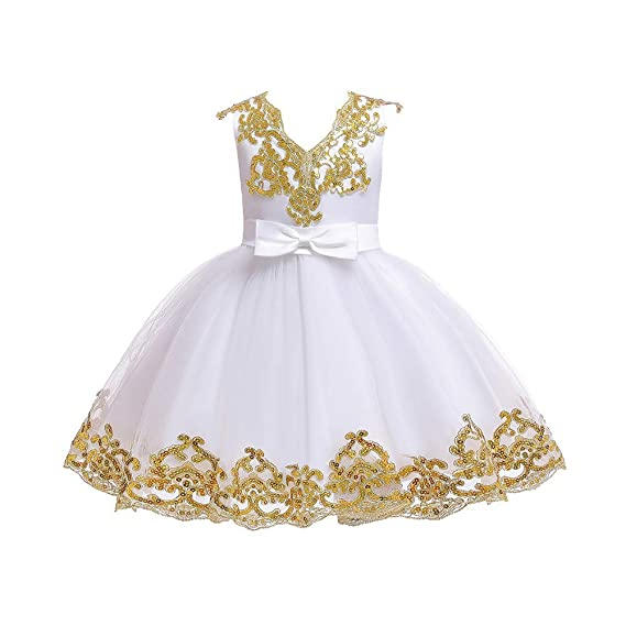 Toddler Kids Baby Girls Floral Cotton Party Pageant Princess Tutu Dress Sunderss