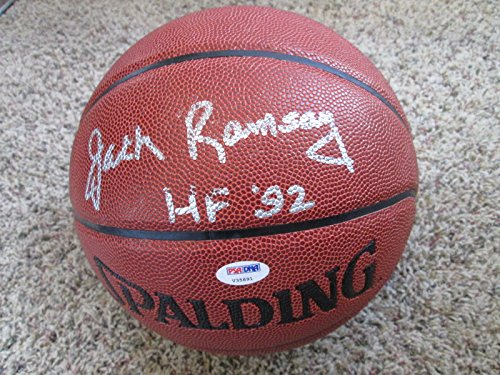 (JACK RAMSAY HOF 92 Signed Synthetic Leather NBA Basketball-PSA/DNA Authenticated)
