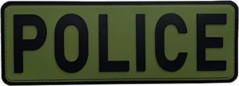 POLICE LAW ENFORCMENT  SWAT TACTICAL BACK PANEL 11 X 4 INCH HOOK PATCH
