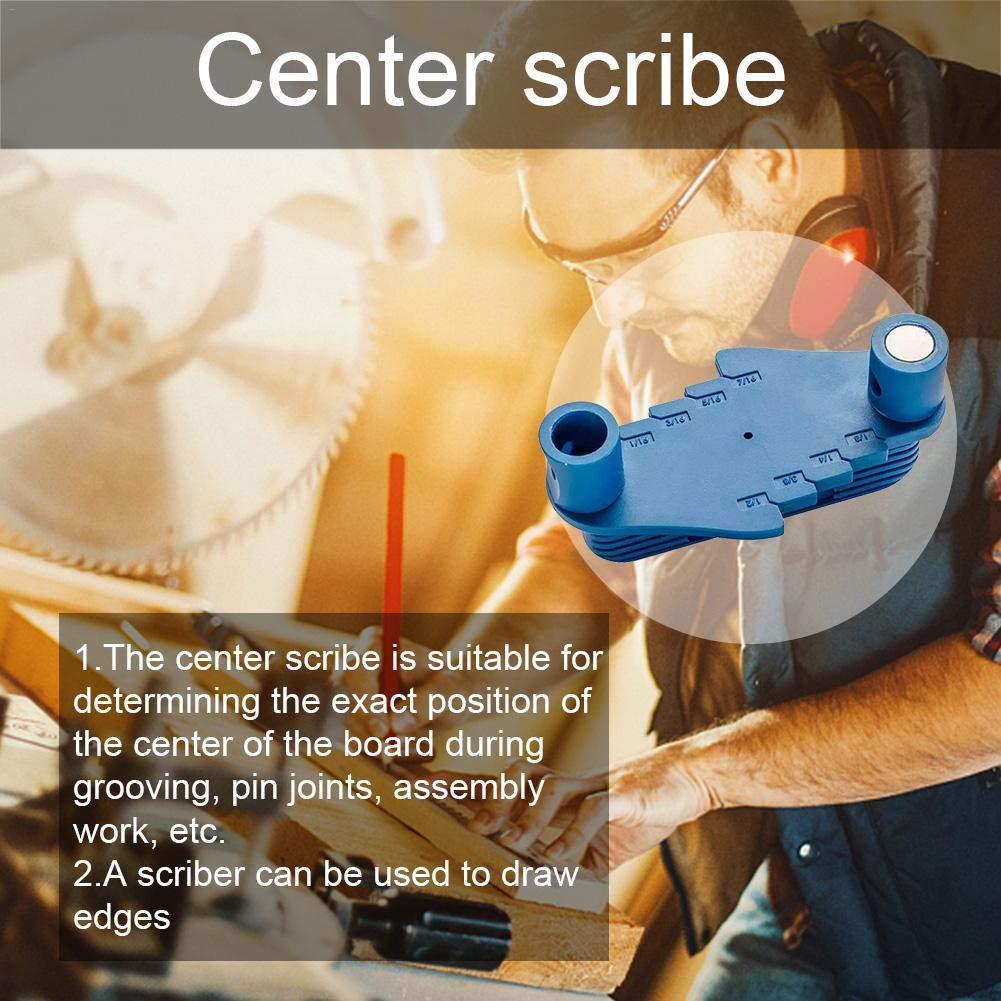 Scriber Multi-Function Center Scriber Edge Line Marcador de Herramienta de Marcado de compensaci/ón de Centro preciso Herramientas para trazar Madera