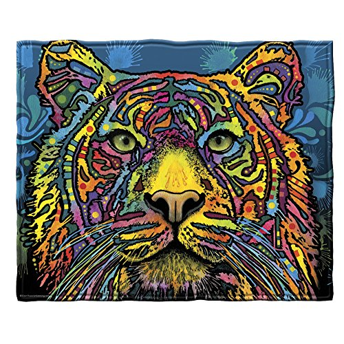 - Dawhud Direct Dean Russo Tiger Fleece Throw Blanket