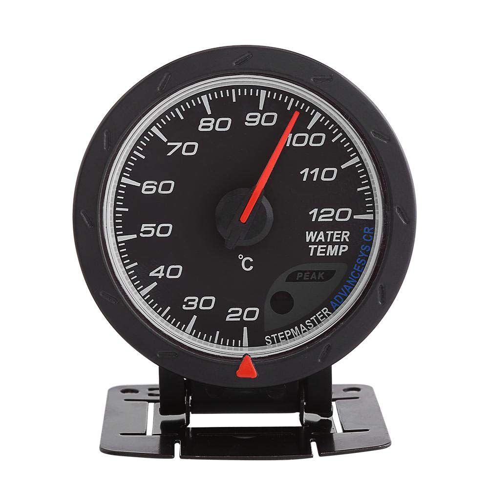 Fydun Water Temp Temperature Gauge 20-120℃ Range with Digital Blue LED Universal for Auto Racing Car by Fydun