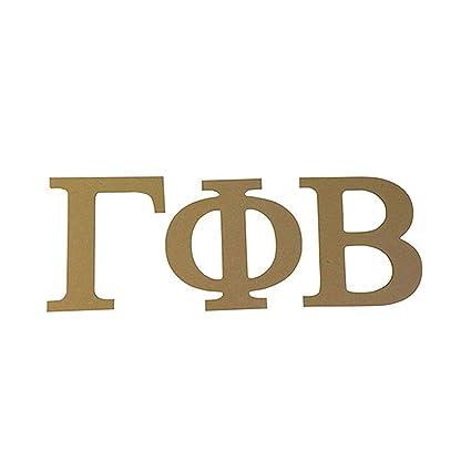 gamma phi beta sorority 75 unfinished wood letter set