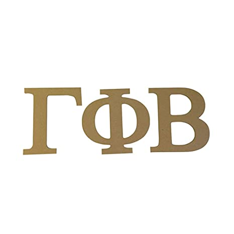 Amazon Gamma Phi Beta Sorority 75 Unfinished Wood Letter Set