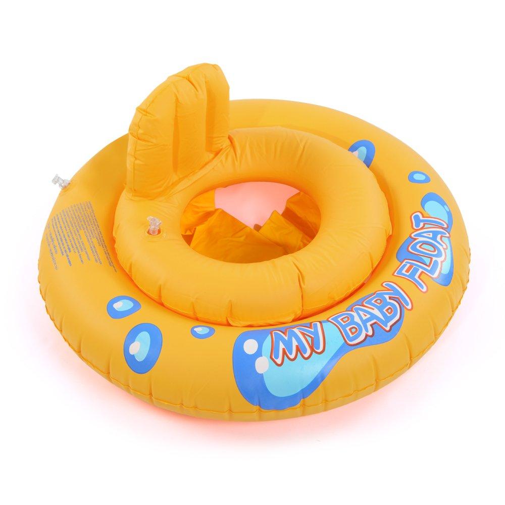 CLE DE TOUS - Flotador para Niño Niña Bebé Forma de coche Natación para 15kg Dibujo Elefante Color Amarrillo: Amazon.es: Juguetes y juegos