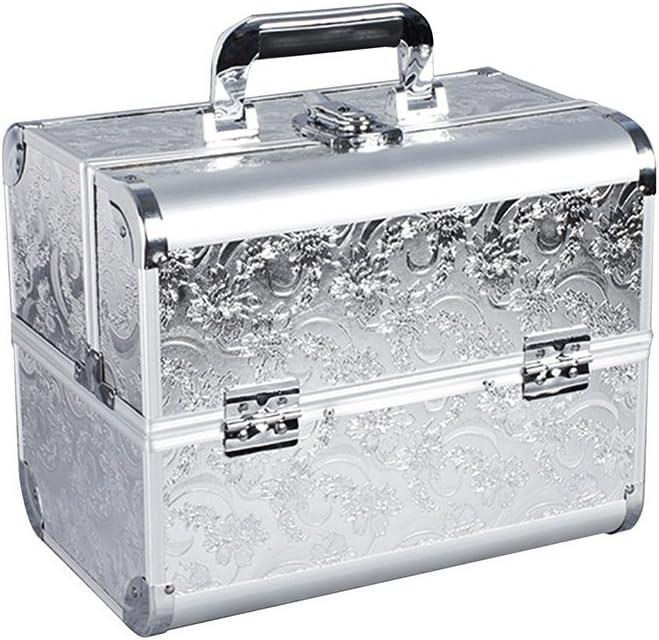 Caja cosmética portátil, Caja de Herramientas Grande de Maquillaje de Belleza Caja de Herramientas con Maquillaje Caja de Tatuaje de múltiples Capas 32 * 21 * 26 CM (Color : E): Amazon.es: Hogar