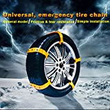 Car Security Chains Cable Traction Mud Chains Slush Chains Snow Tire Chains All Season Tire Anti-slip Chains for Cars 10PCs for Tire Width:185-225mm/7.2-8.9