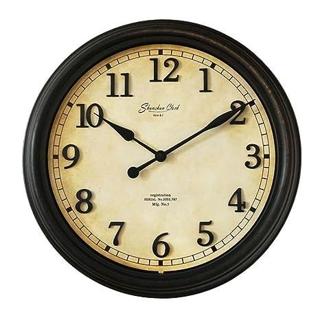 """Jack Mall 16""""Ronda De Cuarzo Reloj Digital Europea Retro Hecho Viejas Ideas Silenciosa Habitación"""