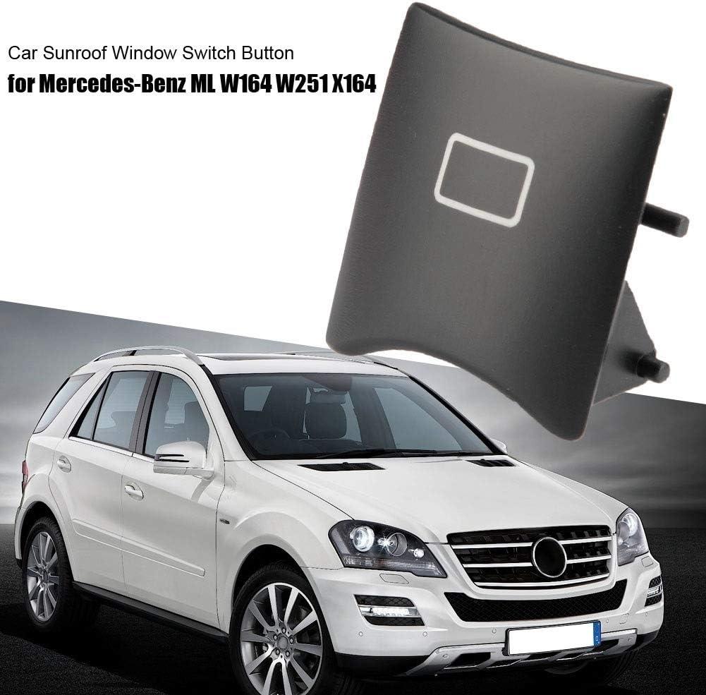 Auto-Schiebedach Fensterschalter-Knopf-Abdeckung for Mercedes-Benz ML W164 W251 X164 16482071858K67 Schwarz KSTE Auto Fensterschalter Knopf Abdeckung