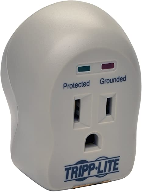 Tripp Lite 1 Outlet Portable Surge Protector Power Strip, Direct Plug In, & $5,000 Insurance (SPIKECUBE)