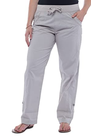 e15b5d7fd968 Alki'i Women's Loose Fit Summer Pants with Roll-up Leg 2161 Sandstone S