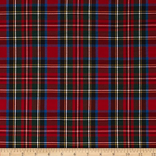 Robert Kaufman Kaufman House of Wales Lawn Plaid Multi Fabric by The Yard, ()
