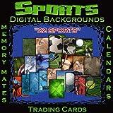 Sports Photo Backgrounds Digital Backdrops Memory Mates Trading Cards Calendar Templates 1A