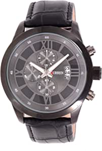 Curren Men's Gray Dial Synthetic Band Casual Watch - 8137