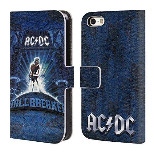 Officiel AC/DC ACDC Chieuse Art D'album Étui Coque De Livre En Cuir Pour Apple iPhone 5 / 5s / SE