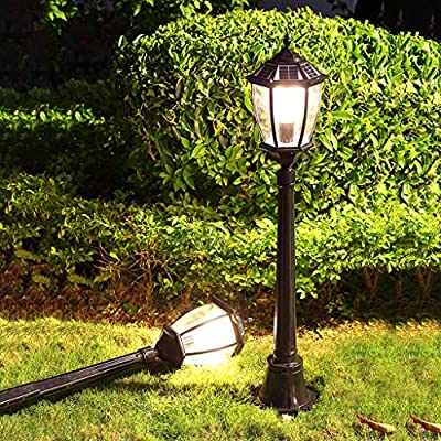 XLOO Luces solares LED para paisajes, Luces LED para áreas, Amanecer al Atardecer, Luces Patio o Luces de Granero, Luces para Jardines Paredes Impermeables Árboles Banderas Proyectore: Amazon.es: Hogar