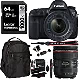 Canon EOS 5D Mark IV Full Frame DSLR Camera Video Kit + EF 24-70mm f/4L IS USM Lens, Lexar 64GB, Ritz Gear Bag, Cleaning Kit and Accessory Bundle