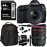 72 in 1 card reader - Canon EOS 5D Mark IV Full Frame DSLR Camera Video Kit + EF 24-70mm f/4L IS USM Lens, Lexar 64GB, Ritz Gear Bag, Cleaning Kit and Accessory Bundle