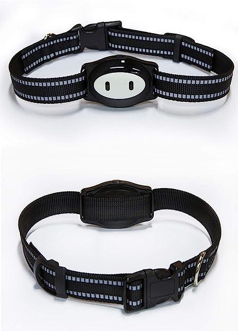 JOJOHUN Mini Mascota Rastreador GPS Mascotas Perro Gato Niños Collar ID Localizador Rastreo Perdida Prevención (