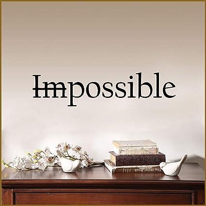 Art Quotes Lettera Not Impossible Wall Sticker Camera da ...