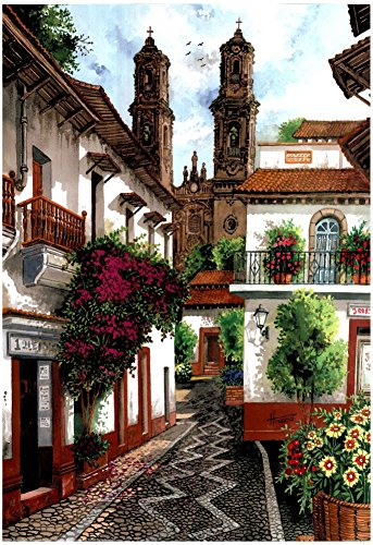 Horacio Robles Jr Old Mexico City Art Print Taxco Poster 13 x 19in