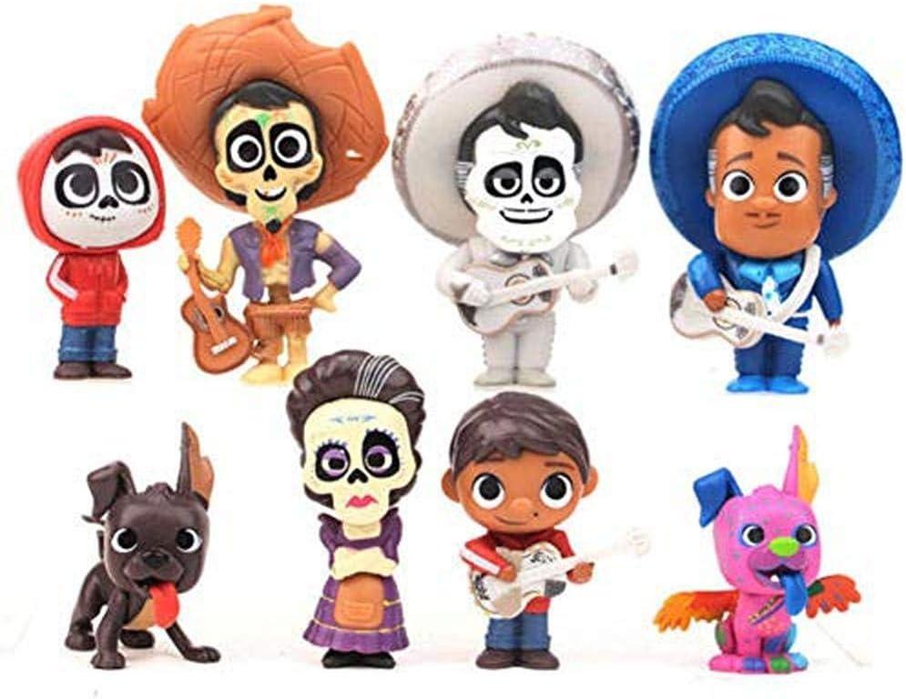Set de 8 muñecas Coco Miguel Hector Dante Imelda Pepita Figura de ...