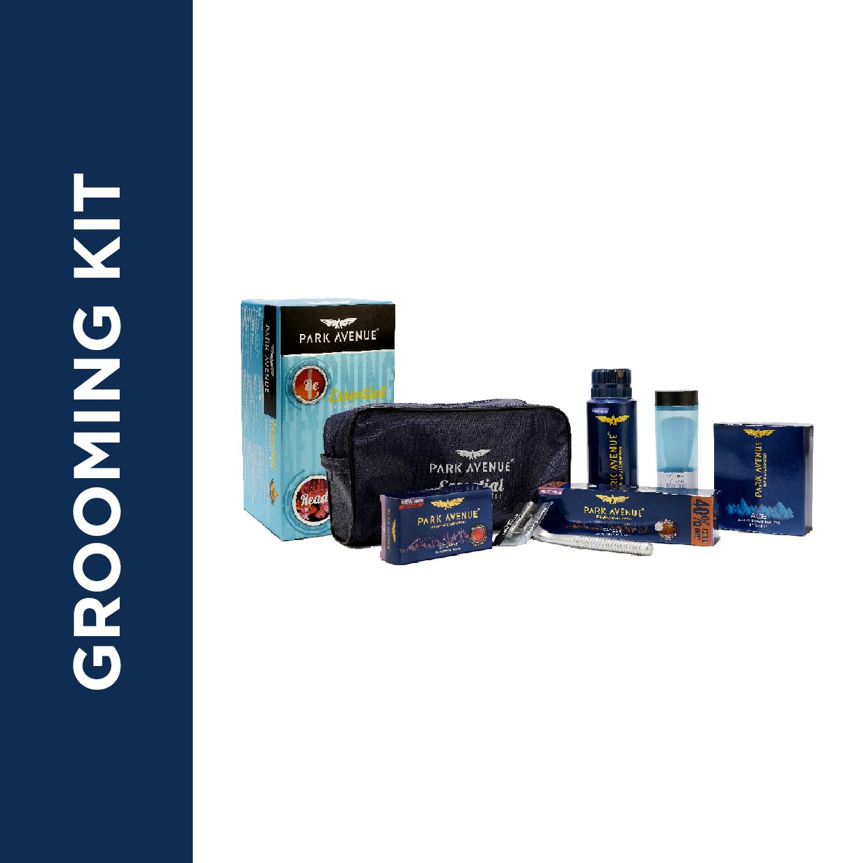 Park Avenue Essential Grooming Kit (Combo Of 6 + Travel Pouch)