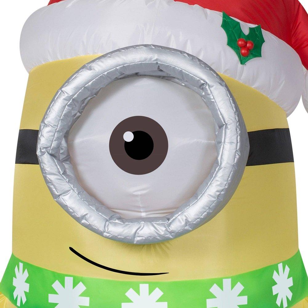 Amazon.com: Gemmy Christmas Inflatable Minion Carl W/ Santa Hat ...