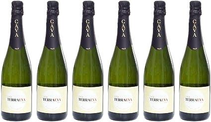 Pack 6 Botellas - BODEGAS TIARA - Cava Extremeño D.O. Terra Eva Brut: Amazon.es: Alimentación y bebidas