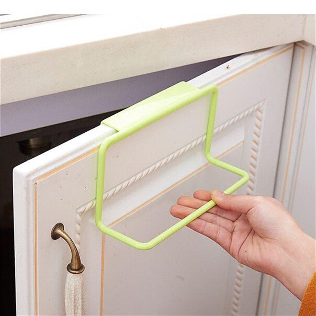 LALANG Towel Rack Hanging Holder Organizer Bathroom Kitchen Cabinet Cupboard Hanger (Green)